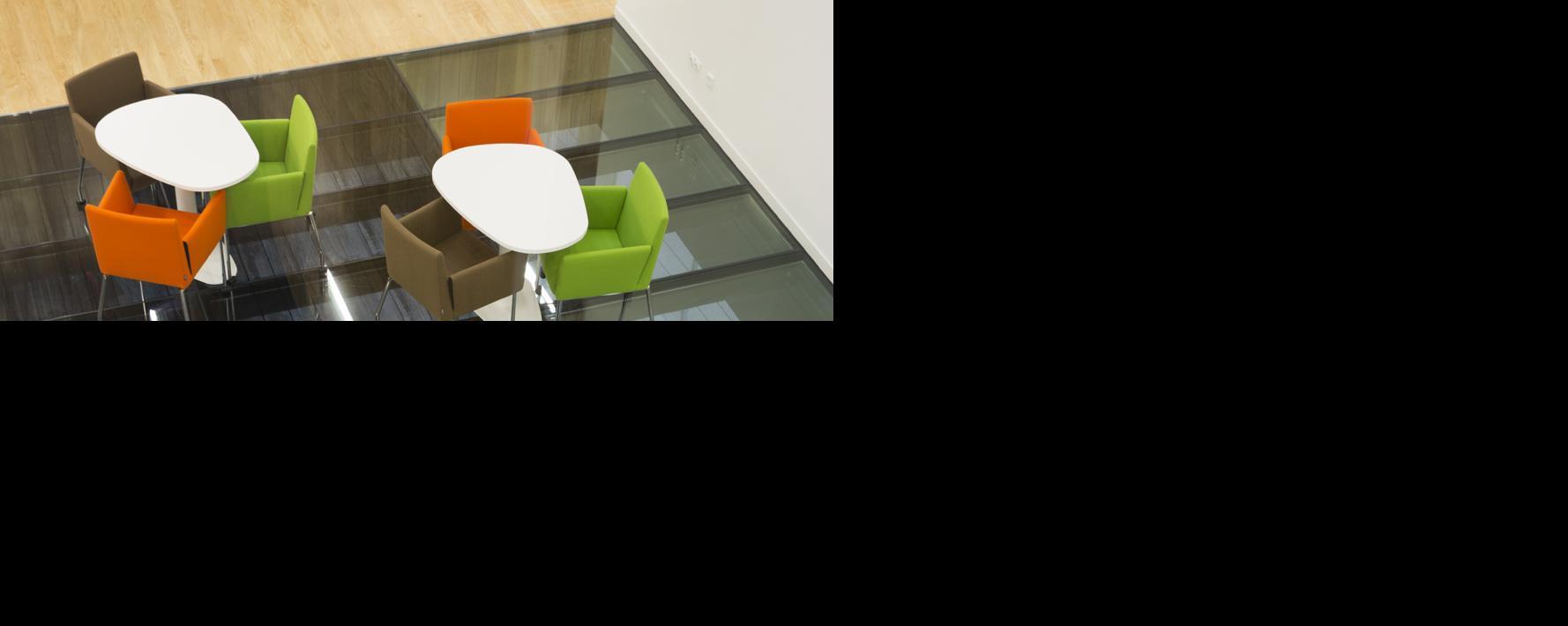 Glazen vloeren & trappen LITE-FLOOR van Saint-Gobain Building Glass