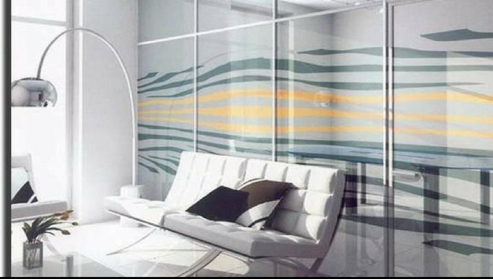 Impression digitale sur verre en cloisons de bureaux