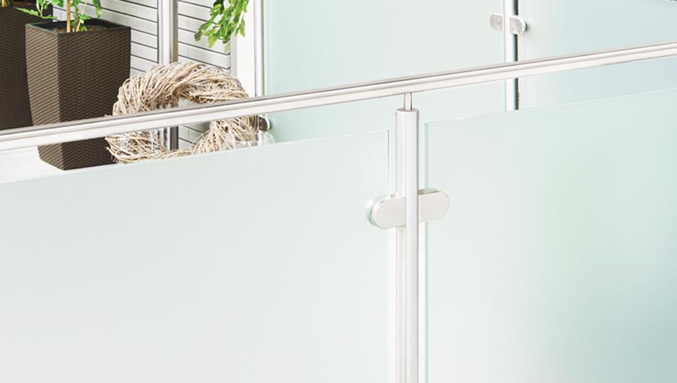 Borstweringen, leuningen, relingen & balustrades in glas | Logli Massimo